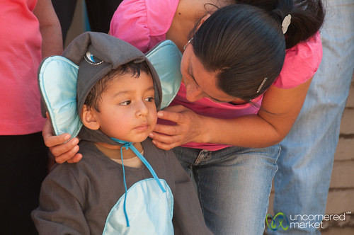 Boy Dressed as Elephant - San Martin Tilcajete, Mexico