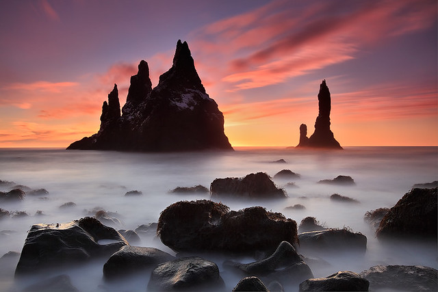Extented Sunrise - Reynisdrangar near Vík, Iceland