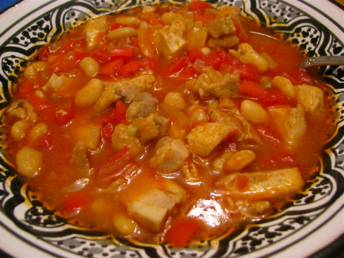 Chicken Chili Beans leftovers made into soup