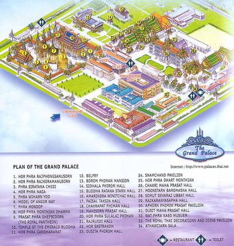 Mapa Gran Palacio Bangkok
