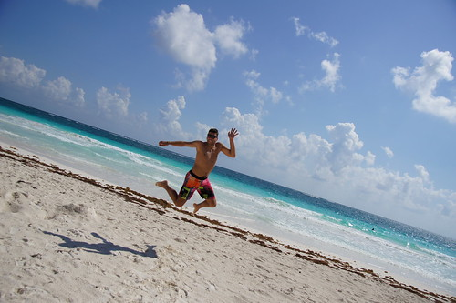 Mexico: jumping on the beach at Tulum