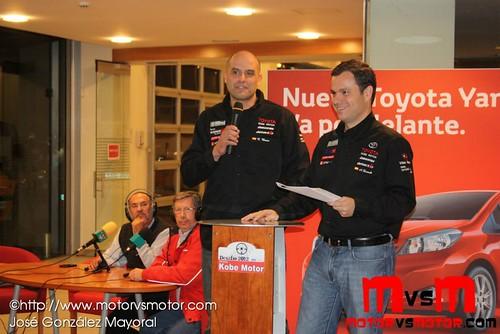 Alberto Dorsch en la presentación de los planes de patrocinio en Kobe Motor 2012
