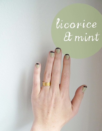 licorice and mint French manicure
