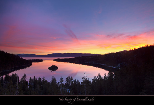 "Sunrise at Emerald Bay, Lake Tahoe by Joalhi ""Around the World"""