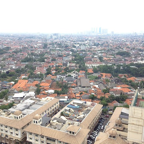 Panorama dari kamar hotel ku