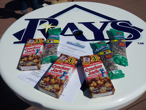 Cracker Jacks and Sunflower Seeds at #Rays