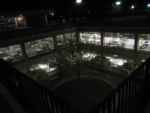 UGL from above, brightly lit at night.