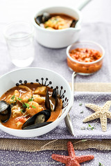 Bouillabaise with a Red Pepper Rouille by Meeta K. Wolff