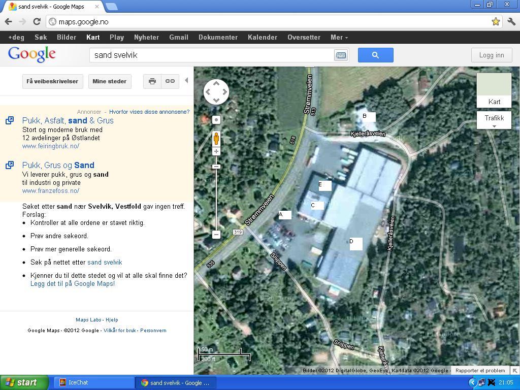 google maps sand