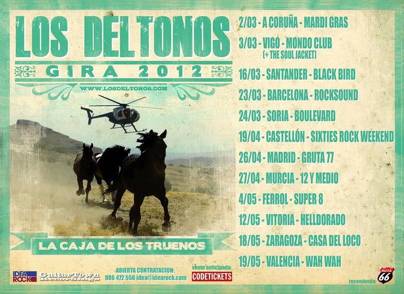 Gira de Los Deltonos en 2012