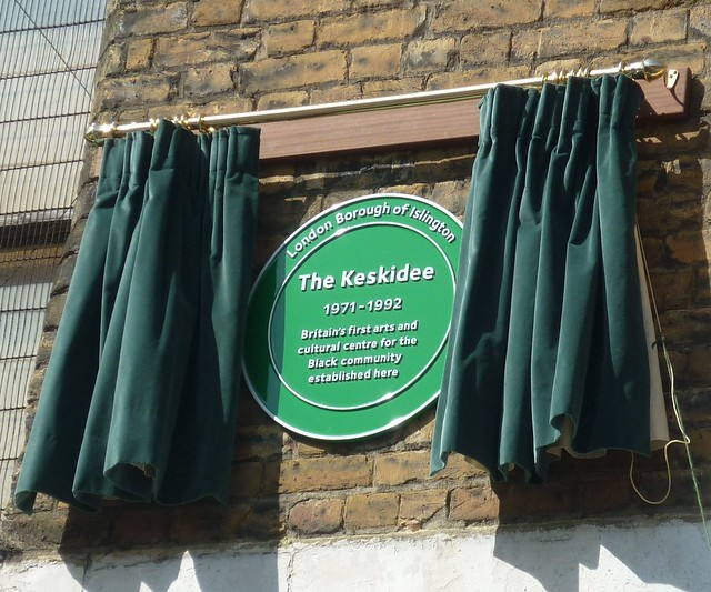 Photo of The Keskidee green plaque