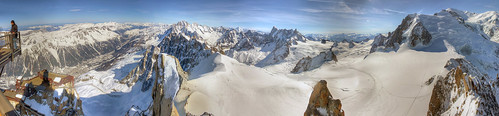 From the Cablecar - Vallée Blanche HDR Panorama