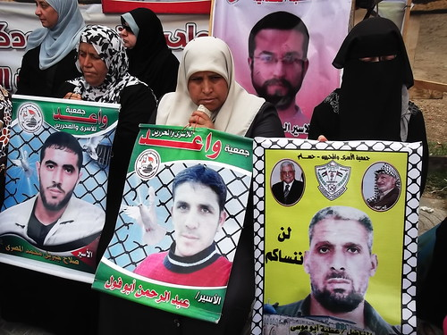 Palestinians showing support for Hunger Strikers
