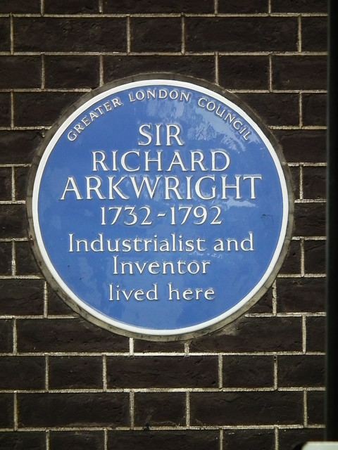 Photo of Richard Arkwright blue plaque