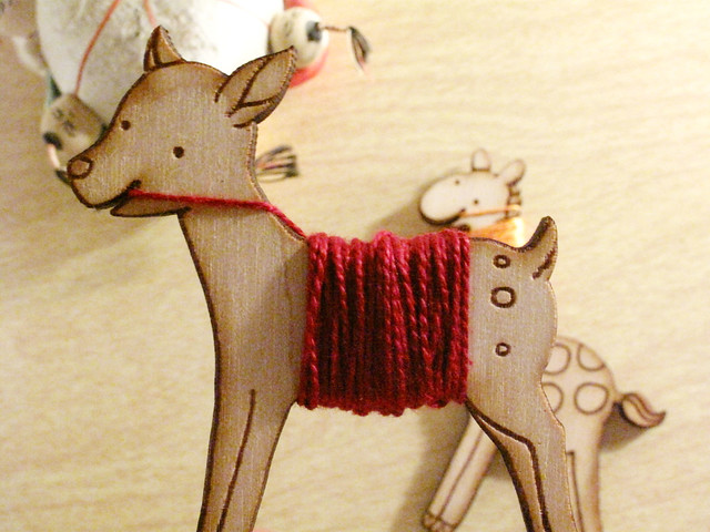 Flossy the Deer Embroidery Floss Bobbin to organize my thread!