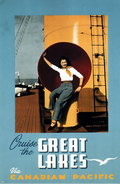 Cruise the Great Lakes via Canadian Pacific. 1947