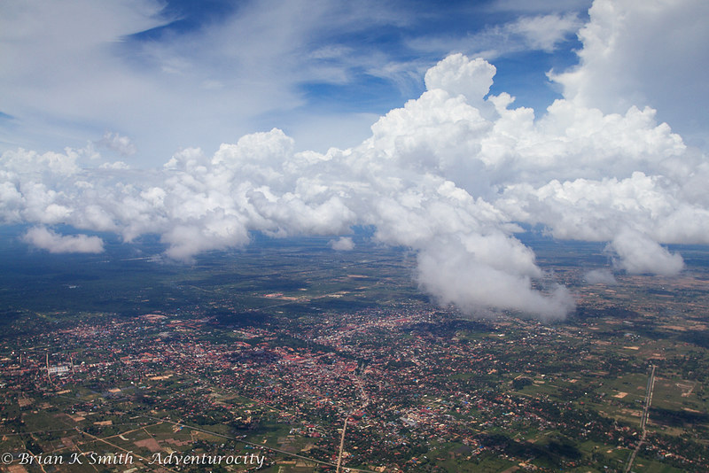 Aerial view of Siem Reap, Cambodia by Adventurocity