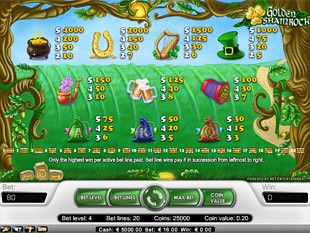 free Golden Shamrock slot payout