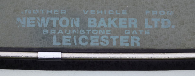 Newton Baker Ltd, Leicester dealer sticker