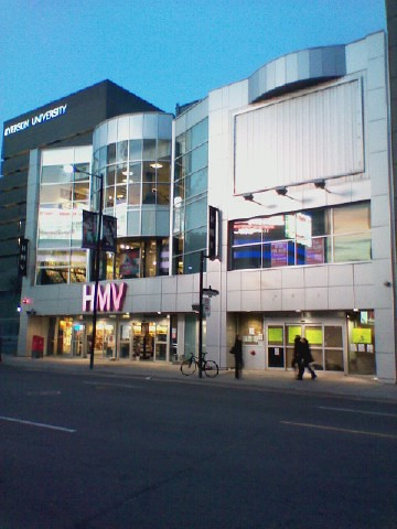 HMV, now only 333 Yonge Street