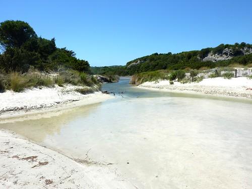 Sentier de Sperone : embouchure du ruisseau de Sperone