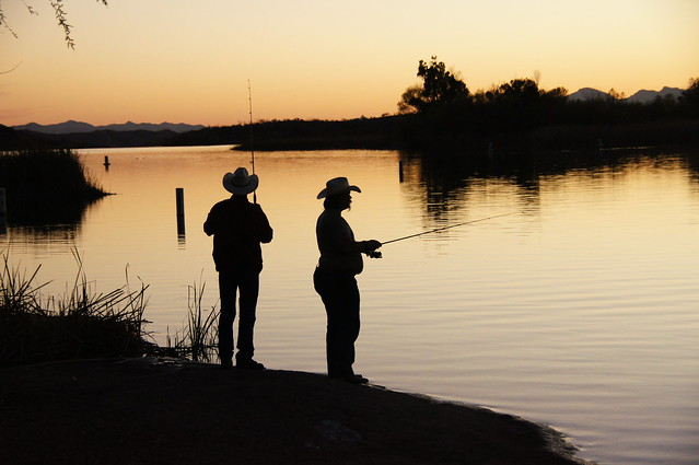 Fishermen at Patagonia Lake State Park, AZ