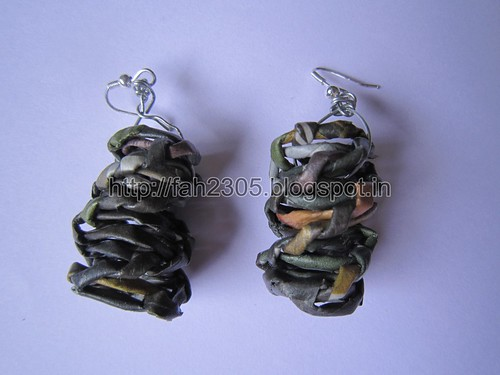 Handmade Jewelry -  Paper Cylinder Earrings by fah2305