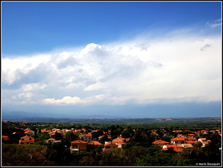 Panorama sur la plaine du Roussillon depuis le belvédère de Laroque-des-Albères