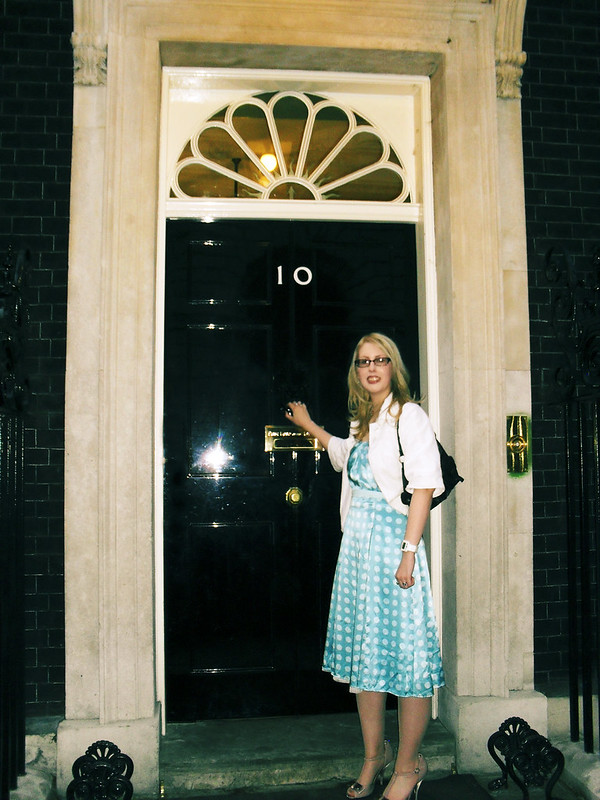 Me outside Number 10