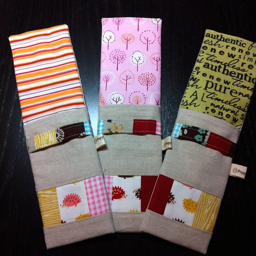 Zakka style rotary cutter pouches by Poppyprint