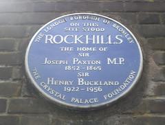 Photo of Joseph Paxton blue plaque