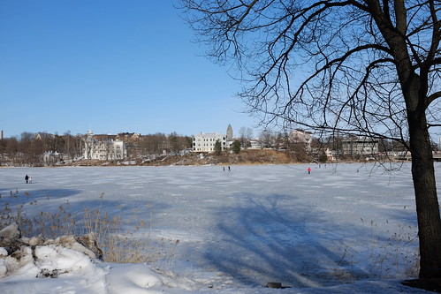 Frozen lake in Helsinki