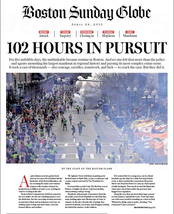 The Boston Globe: 102 Hours in Pursuit