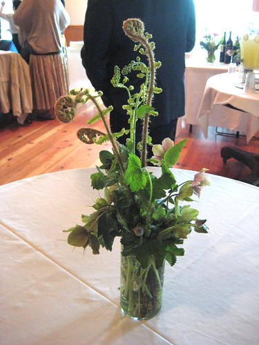 Centerpiece with Fern Fronds