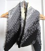 crochet, scarf, black and white, diagonal 003