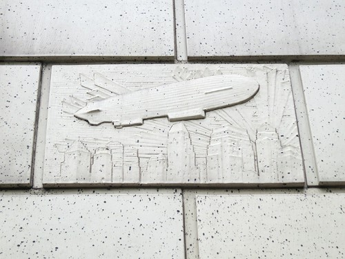 Zeppelin relief on the Sinclair Centre