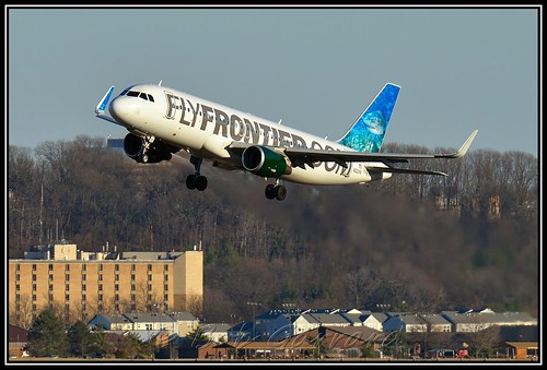 "N220FR Frontier Airlines ""Finn the Tiger Shark"""