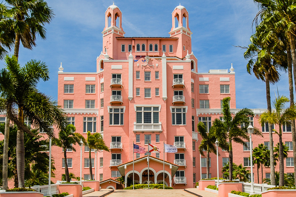 The Pink Palace - Lowes Don Cesar main entrance on St Pete Beach