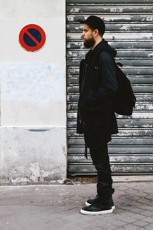 TUUKKA13 - Paris - WDYWT - Kris Van Assche Sneakers, Nicolas Andreas Taralis Jeans and Tank Top, DAMIR DOMA SILENT Hoodie and Backpack, Dior Homme T-Shirt and DAMIR DOMA Cap- (5 of 6)