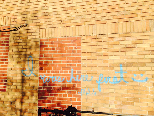 Photo from 11th and H. Gentrification graffiti
