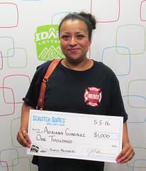 Adriana Gonzalez - $1,000 Bonus Numbers
