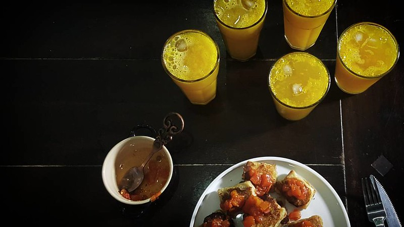 Dinner - Akara Toast with pawpaw chutney and Mango Shandy #kitchenbutterfly #newNigeriankitchen #newNigeriancuisine #drinks #Nigeriandrinks #inseason #mangoes #shandy #mangoshandy #tropicalFruits #tropicalflavours #tropicaldrinks #dinner #Akara #Akaratoa