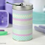 Twine tin with Washi Tape