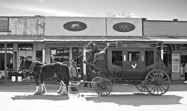 Tombstone Stagecoach B/W 2