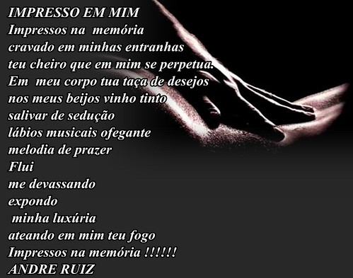 IMPRESSO EM MIM by amigos do poeta