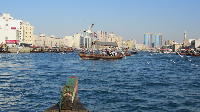 Onboard an Abra on Dubai Creek