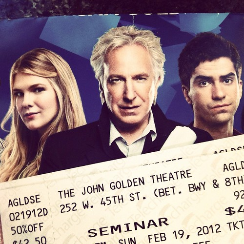yep. we're gonna see alan rickman today!!! :D