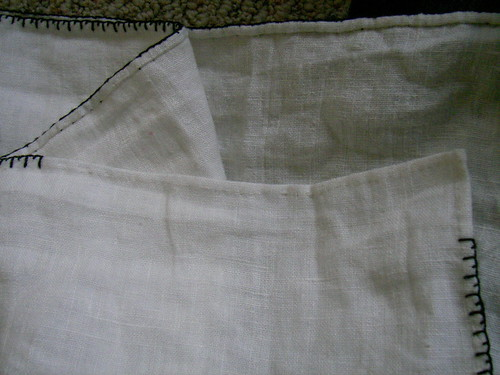Bottom Hem Before Blanket Stitch, on MorganDonner.com