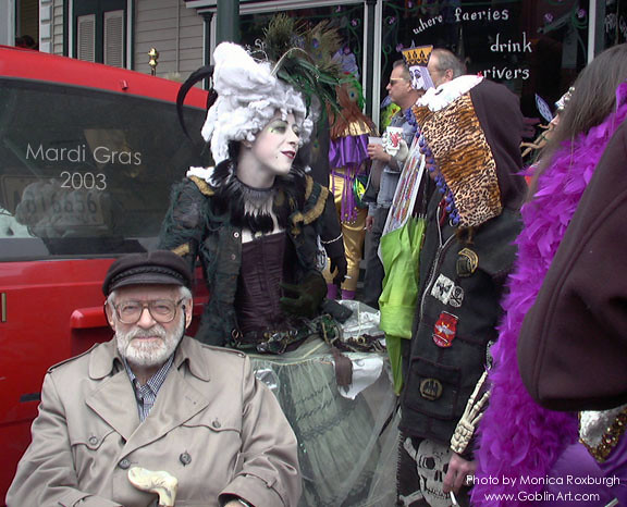 Grampa + I on Mardi Gras morning, 2003