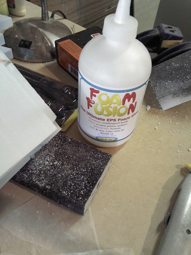 Glue to hold the foam together.
